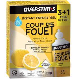 OVERSTIM.s Coup de Fouet Sachet de gels liquides 3+1 Gratuit 4x30g, Lemon